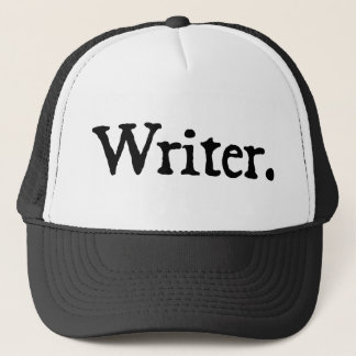 Writer (black lettering) trucker hat