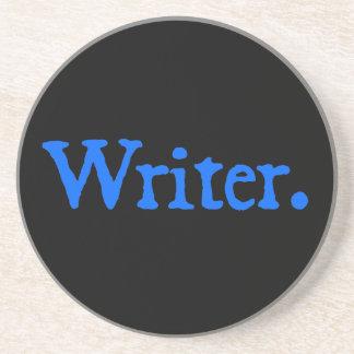 Writer: Blue Text Coaster