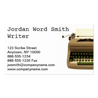 """Writer"" Business Card"