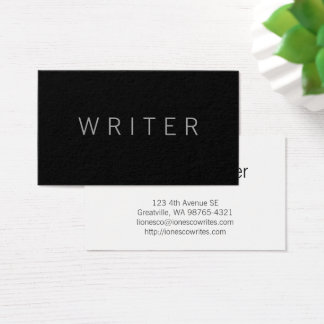 Writer Business Card