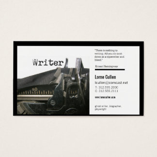 writer business card (typewriter)