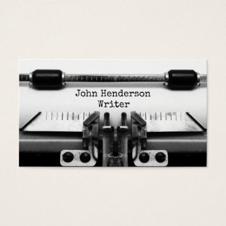 Writer Business Profile Card