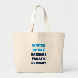 Writer by Day Baseball Fanatic by Night Jumbo Tote Bag