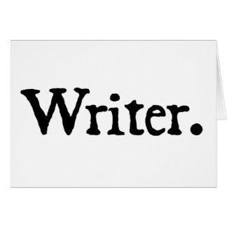 Writer. Card