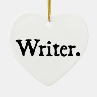 Writer Ceramic Heart Decoration