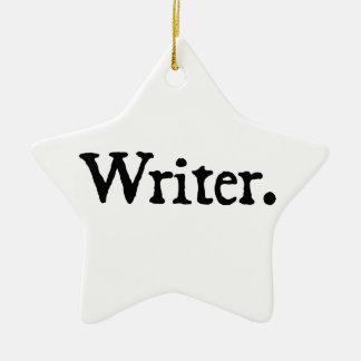 Writer Ceramic Star Decoration