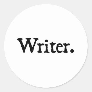 Writer. Classic Round Sticker