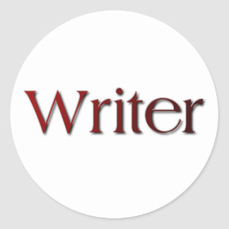 Writer Classic Round Sticker