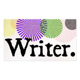 Writer Color Bursts Pack Of Standard Business Cards