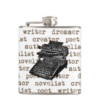 Writer Creator Vintage Typewriter Flask