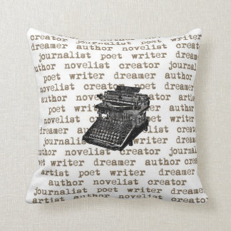Writer Creator Vintage Typewriter Pillow