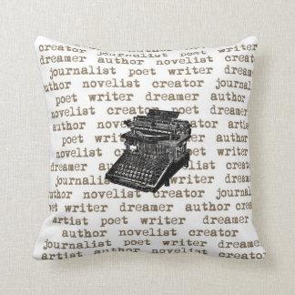 Writer Creator Vintage Typewriter Pillow