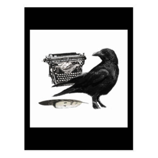 Writer Crow postcard
