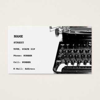 Writer Editor Author Novelist Book Business Card