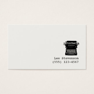 Writer Editor Typewriter Business Card