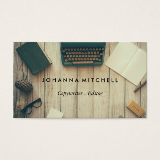 Writer Editor Typwriter Journal Business Cards