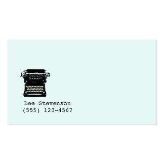 Writer , Editor, Vintage Typewriter Business Card