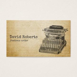 Writer Editor Vintage Typewriter Business Card