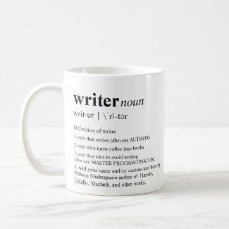 Writer Fun Personalised Dictionary Coffee Mug