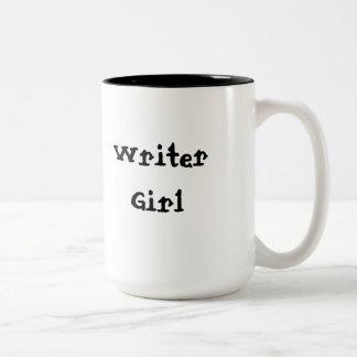 Writer Girl Two-Tone Coffee Mug