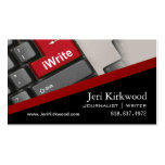 Writer Journalist Author Reporter Novelist Pack Of Standard Business Cards