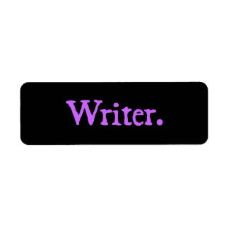 Writer Lavender Text