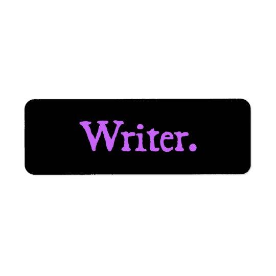 Writer Lavender Text