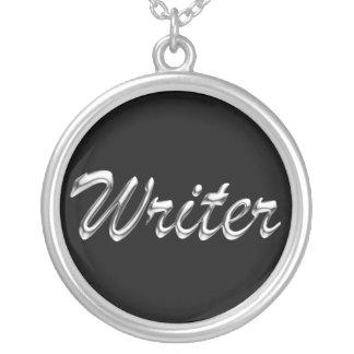 Writer Metallic Looking Script Jewelry