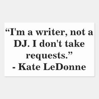 Writer Not a DJ stickers