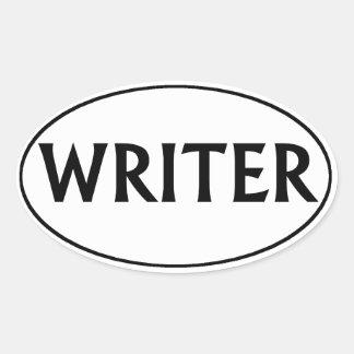 Writer Oval Bumper Sticker Oval Sticker