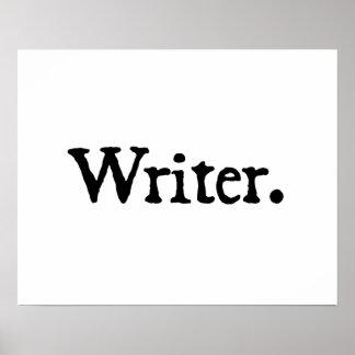 Writer. Print