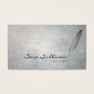 Writer Quill Pen Grunge Texture BusinessCard Business Card