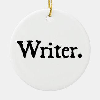 Writer Round Ceramic Decoration