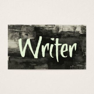 Writer Rustic Business Card