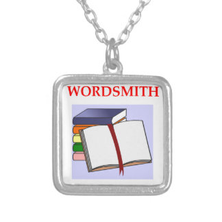 WRITER SILVER PLATED NECKLACE