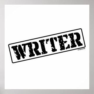 Writer Stamp Poster