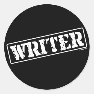 Writer Stamp Round Sticker