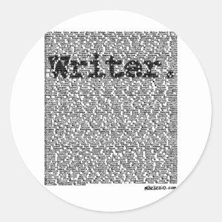 """""""Writer."""" Round Stickers"""