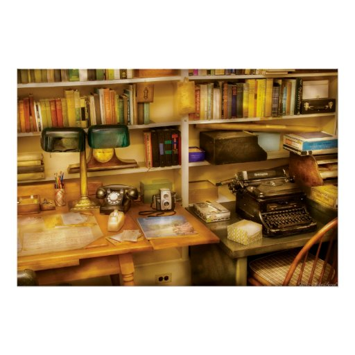 Writer - The desk of a writer Poster