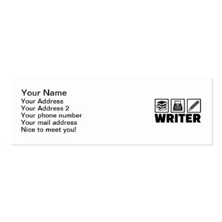 Writer tools business card
