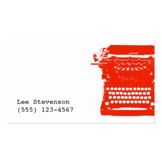 Writer Typewriter Business Card