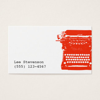 Writer Typewriter Business Card