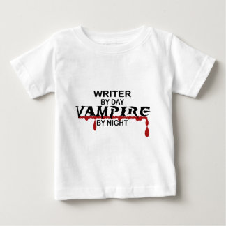 Writer Vampire by Night Baby T-Shirt