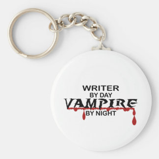 Writer Vampire by Night Key Ring
