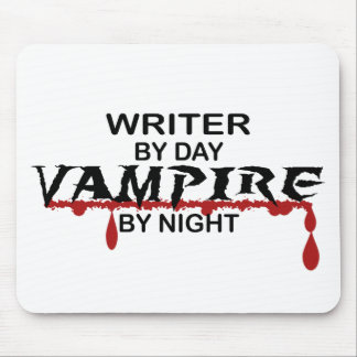 Writer Vampire by Night Mouse Mat