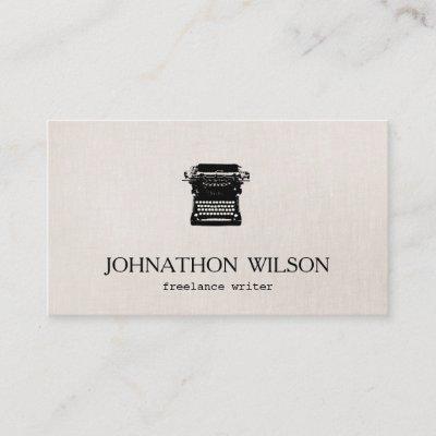 Typewriter business card zazzle reheart Choice Image