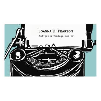Writer Vintage Typewriter Business Card Templates
