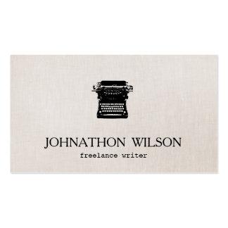 Writer Vintage Typewriter Pack Of Standard Business Cards