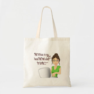 Writer Voices tote Budget Tote Bag