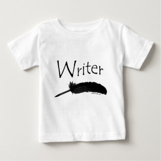 Writer with quill pen baby T-Shirt